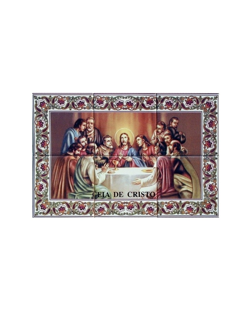 Tiles with the image with Last Supper