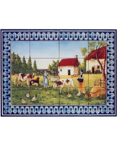 Azulejos com imagem de Paisagem do Campo