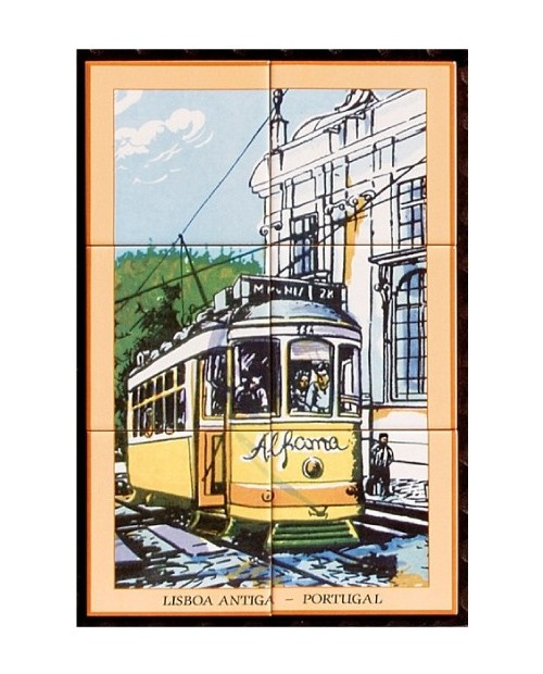 Tiles with the image of Alfama - Lisbon