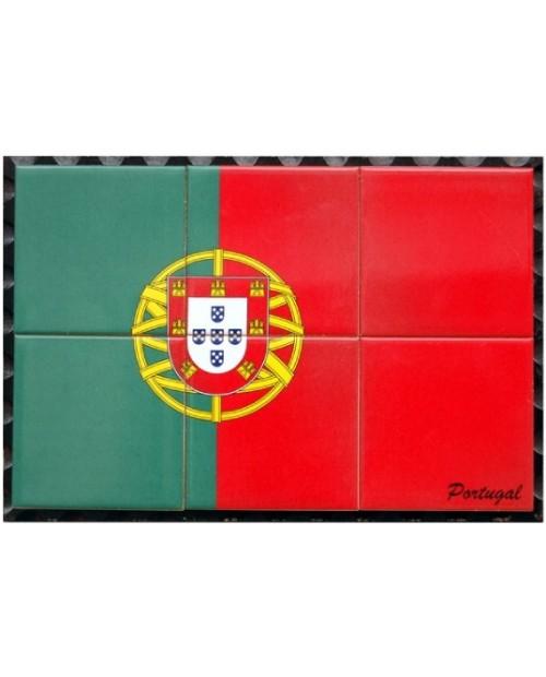 Azulejos com imagem da bandeira de Portugal