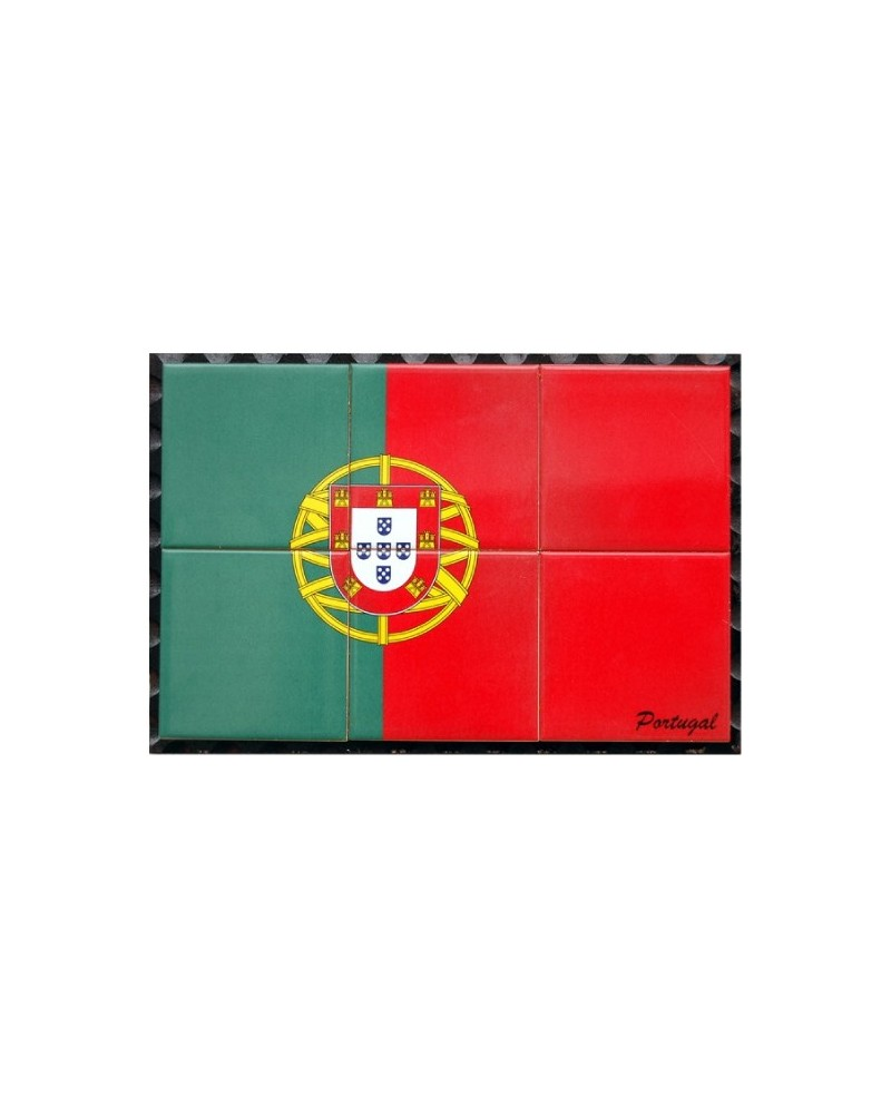 Tiles with the image of Portugal flag