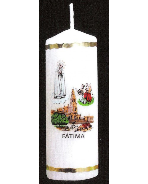 Candles with image of Apparitions of Fatima