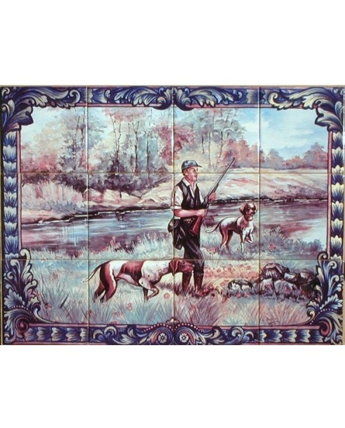 Tiles with the image of hunter