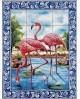 Azulejos com imagem dos flamingos