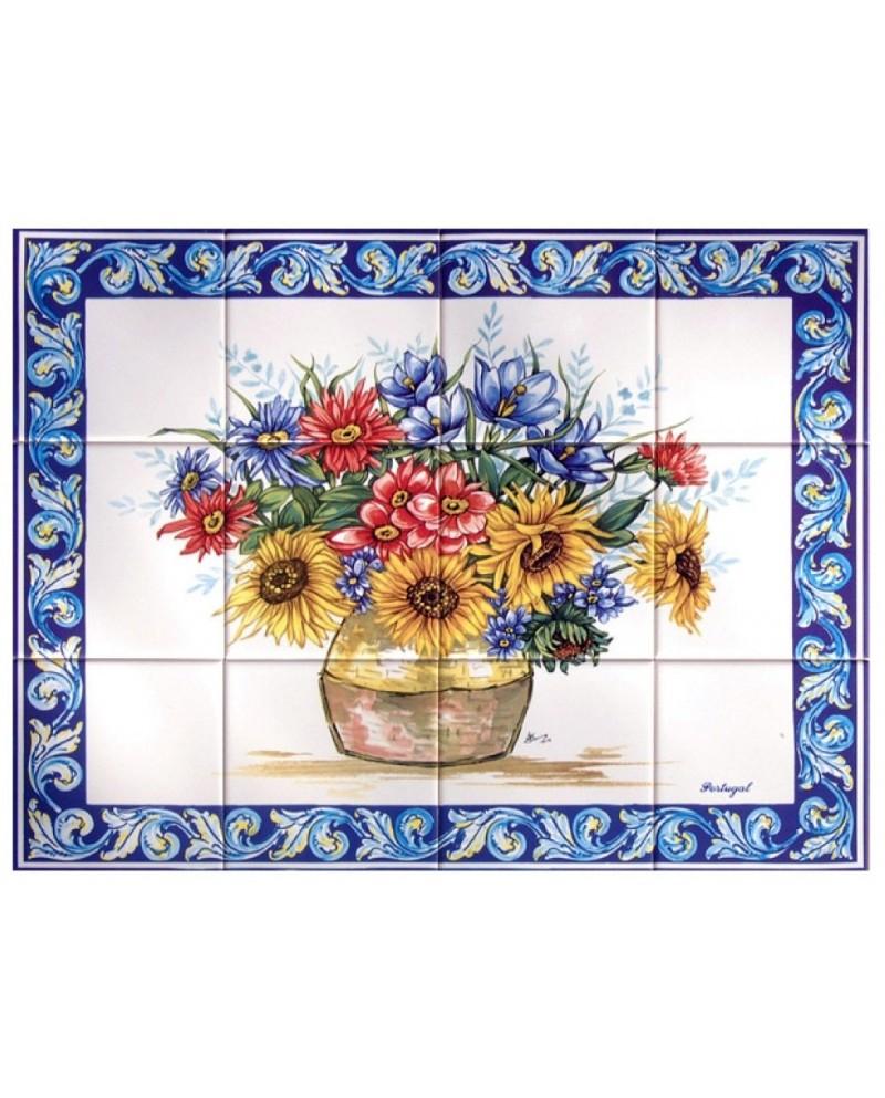 Carreaux avec l 39 image de vase de fleurs store online f tima for Fleurs online