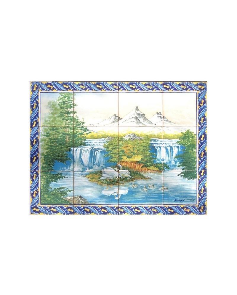 Azulejos com imagem de Montanhas