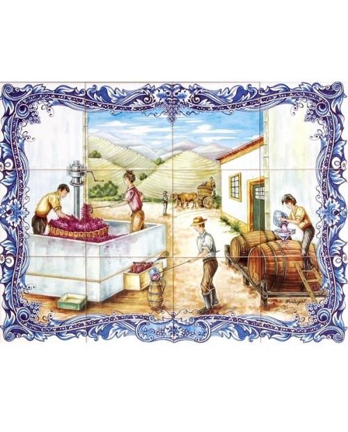 Piastrelle con l'immagine de la Vendemmia