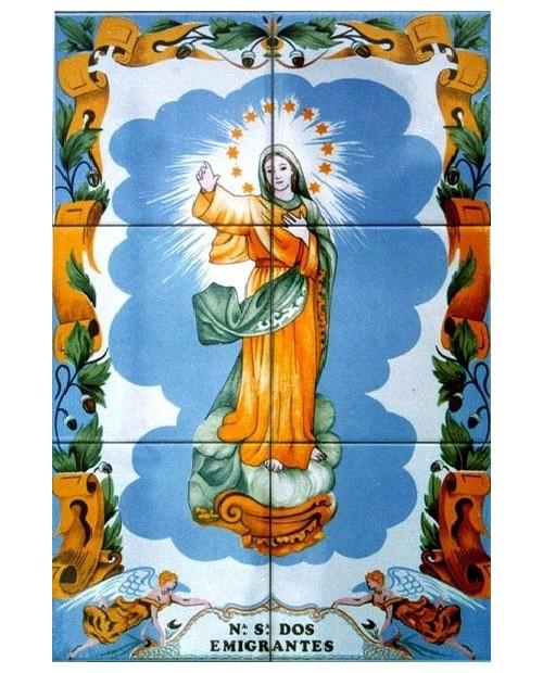 Piastrelle con l'immagine della Signora di emigranti