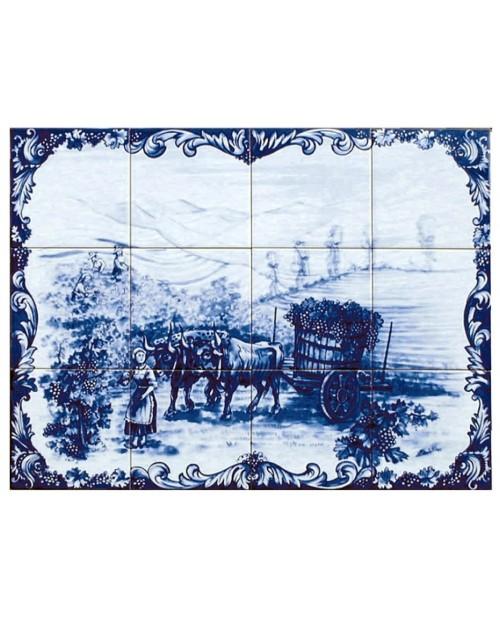 Azulejos com imagem das Vindimas