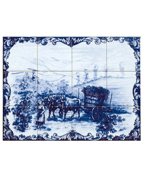 Tiles with image of the Wine Harvest