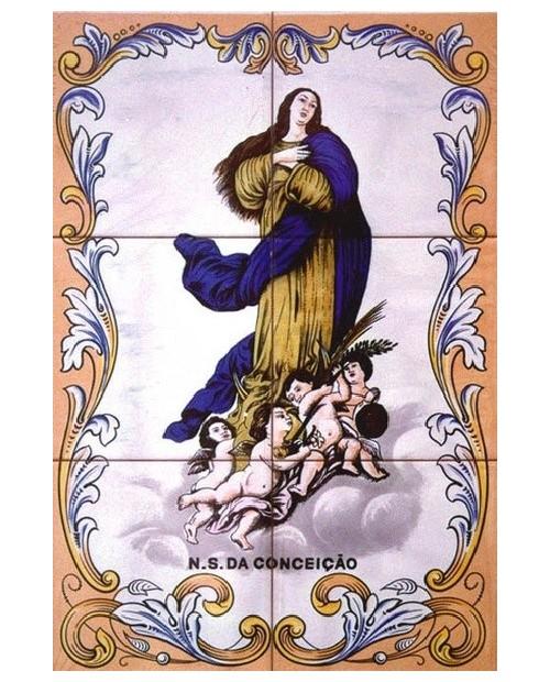 Piastrelle con l'immagine dell'Immacolata Concezione