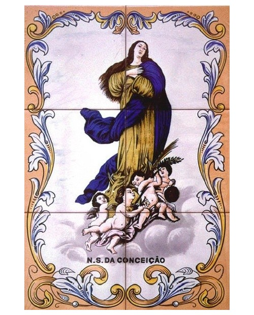 Tiles with image of Ms. Conception