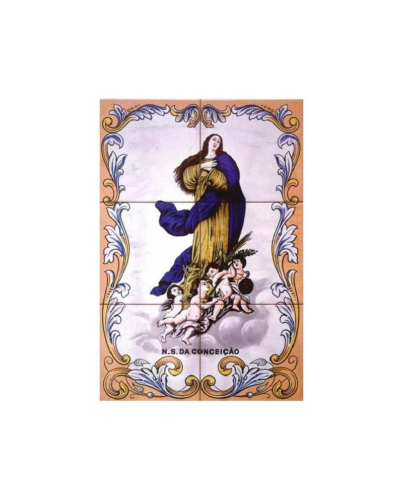 Azulejos con la imagen de Jesucristo