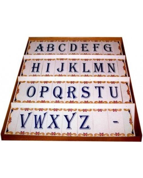 Carreaux avec lettres