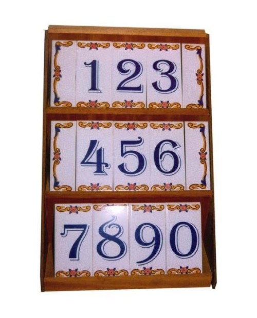 Azulejos com números