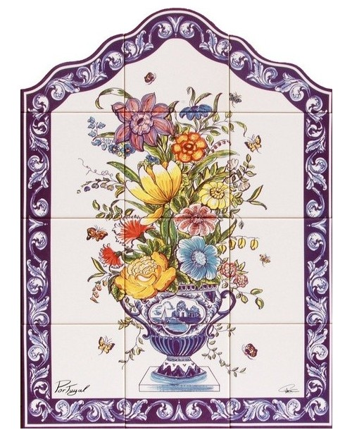 Tiles with the image with Vase of Flowers
