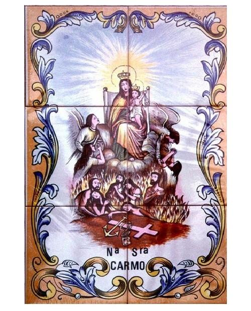 Azulejos con la imagen de la Señora Carmen