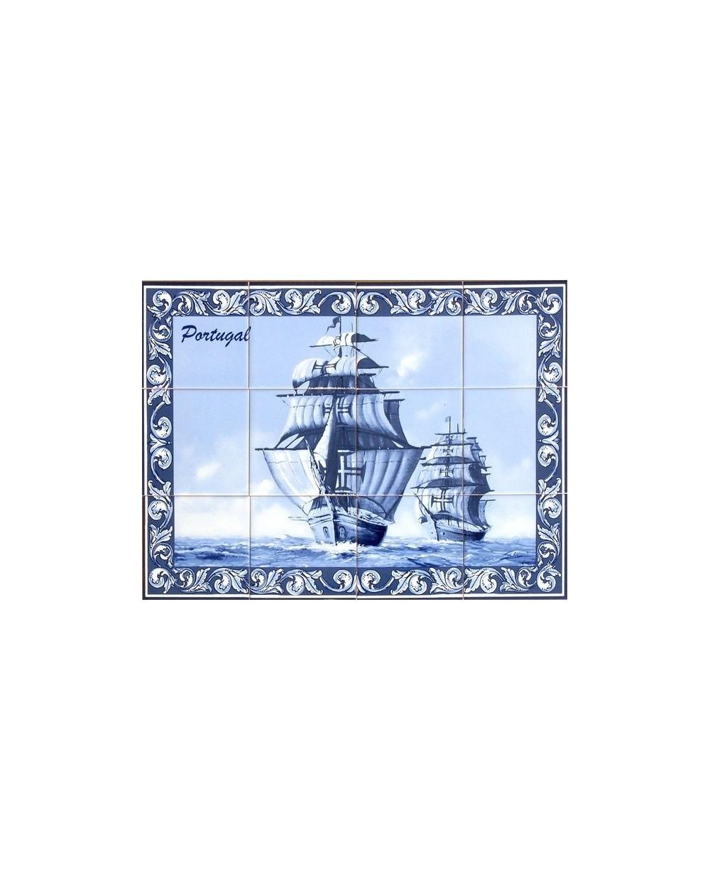 Azulejos com imagem de caravela store online f tima for Azulejos on line
