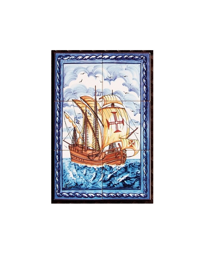 Azulejos com imagem de uma caravela store online f tima for Azulejos on line