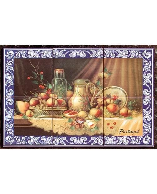 Azulejos con la imagen de frutas