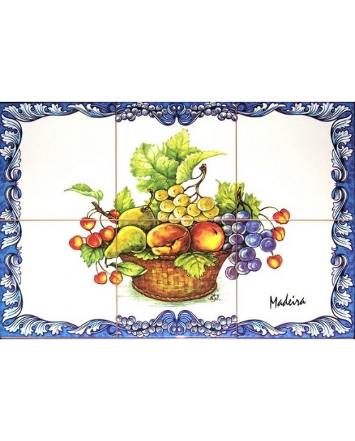 Tiles with the image of fruits