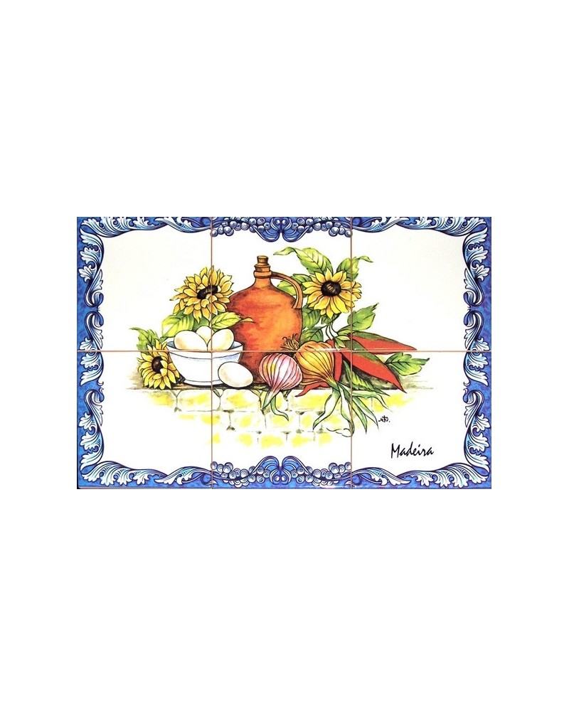 Tiles with the image of vegetables