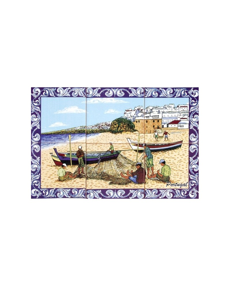 Tiles with the image of the fishermen
