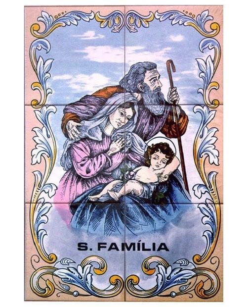 Piastrelle con l'immagine della Sacra Famiglia