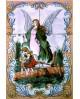 Azulejos con una imagen de la Sagrada Familia