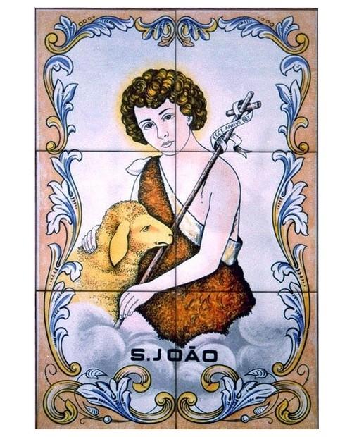 Carreaux avec l'image de Saint-Jean