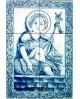Azulejos com imagem do Sagrado Coração de Jesus