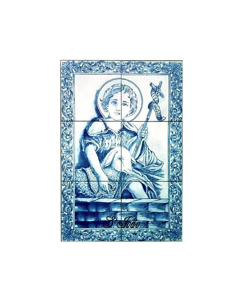 Azulejos con una imagen del Sagrado Corazón de Jesús