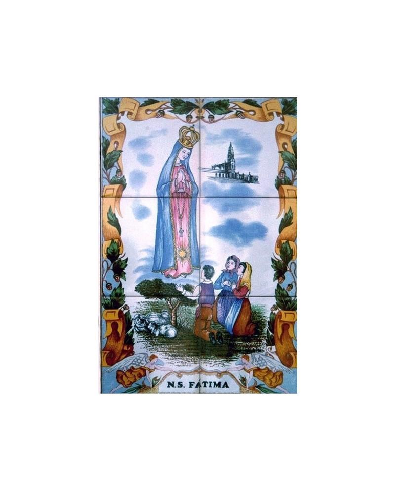 Piastrelle con l'immagine di Nostra Signora di Fatima
