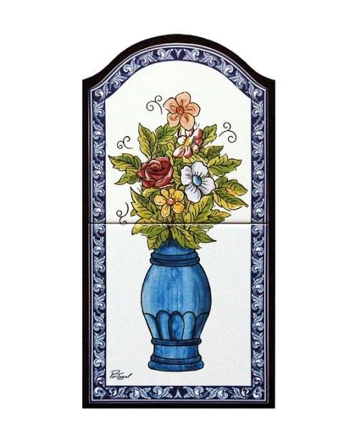 Azulejos com imagem de Jarra de Flores