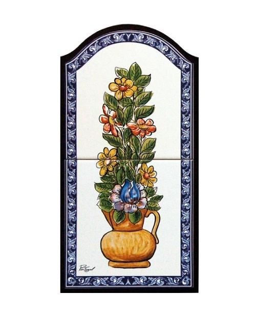 Piastrelle con l'immagine di Vaso di fiori