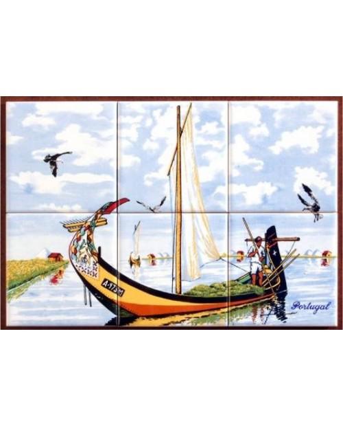 Azulejos com imagem de Moliceiro