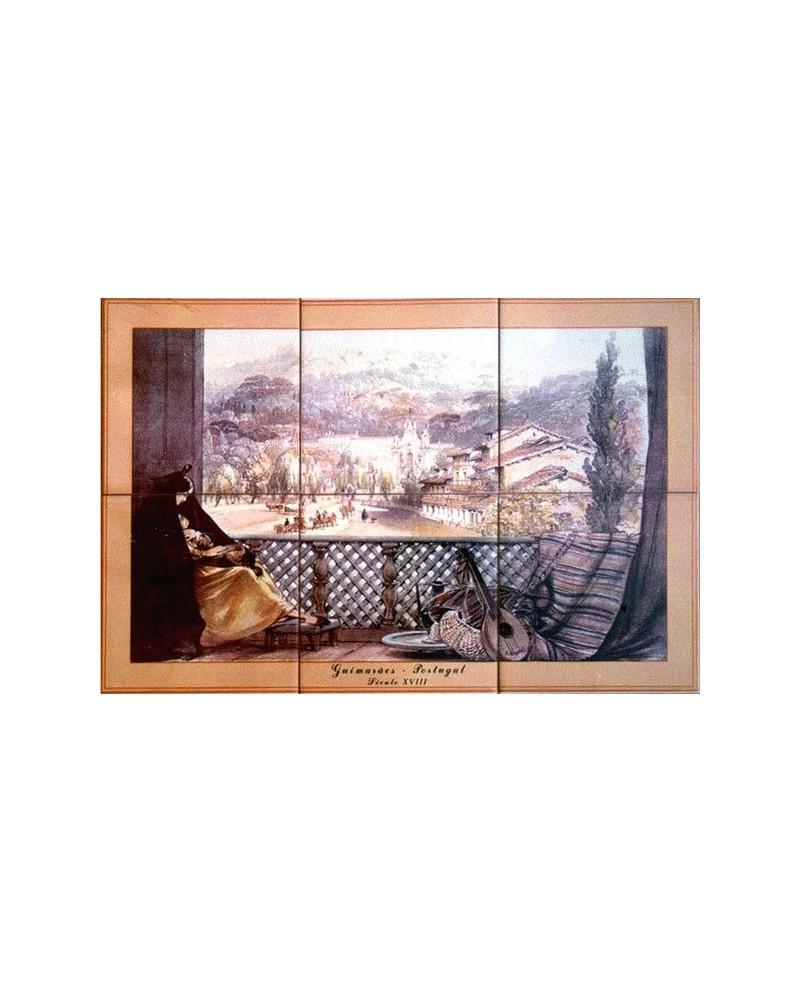Piastrelle con l'immagine dei Guimarães XVIII secolo