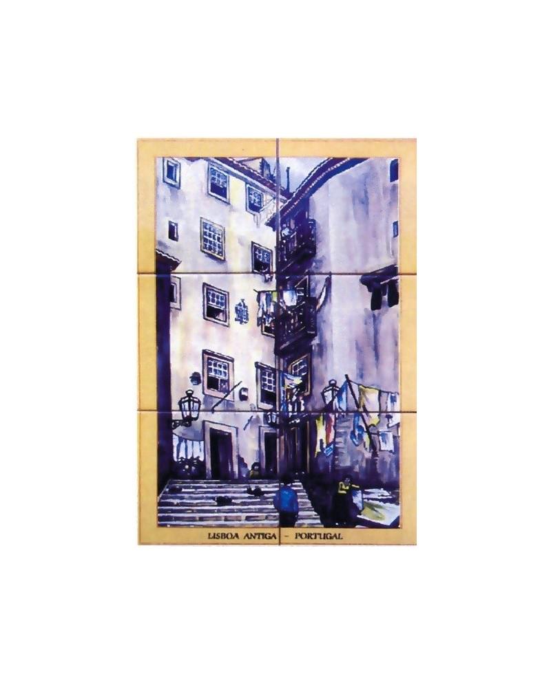 Tile com imagem Lisbon - historic area