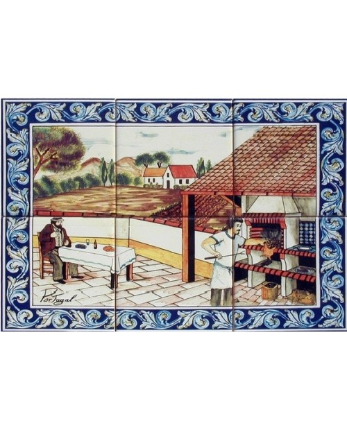 Tiles with the image of the Barbecue