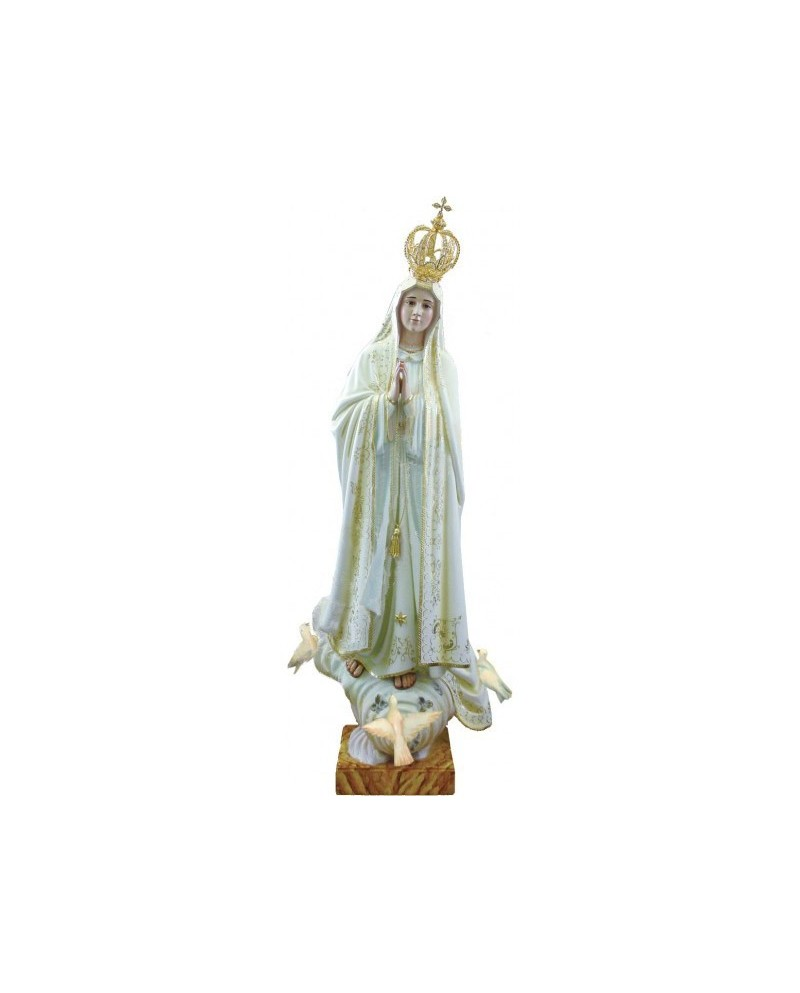 Wooden statue of Our Lady of Fatima