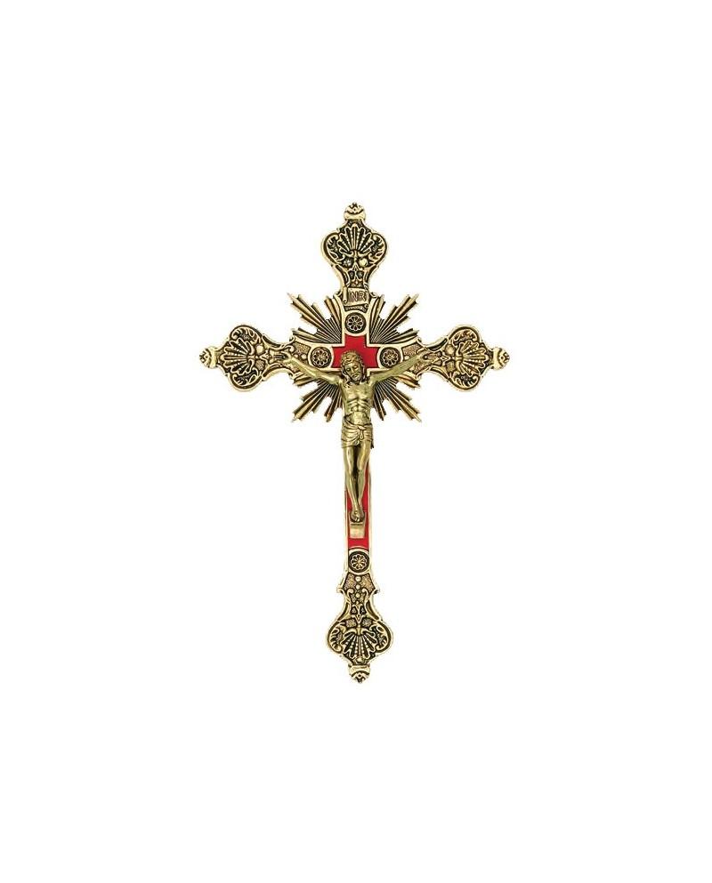 Crucifix metal tin