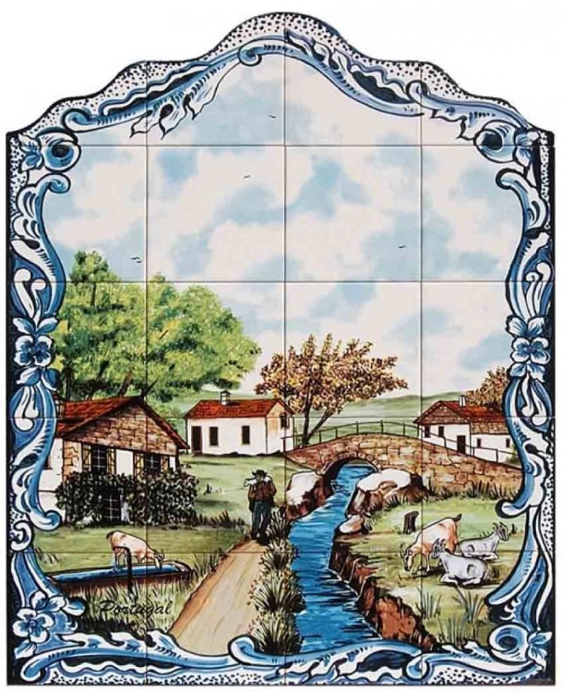 Azulejos com imagem de paisagem do campo store online for Azulejos on line