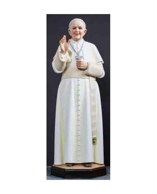 Estatua de madera Papa Francisco