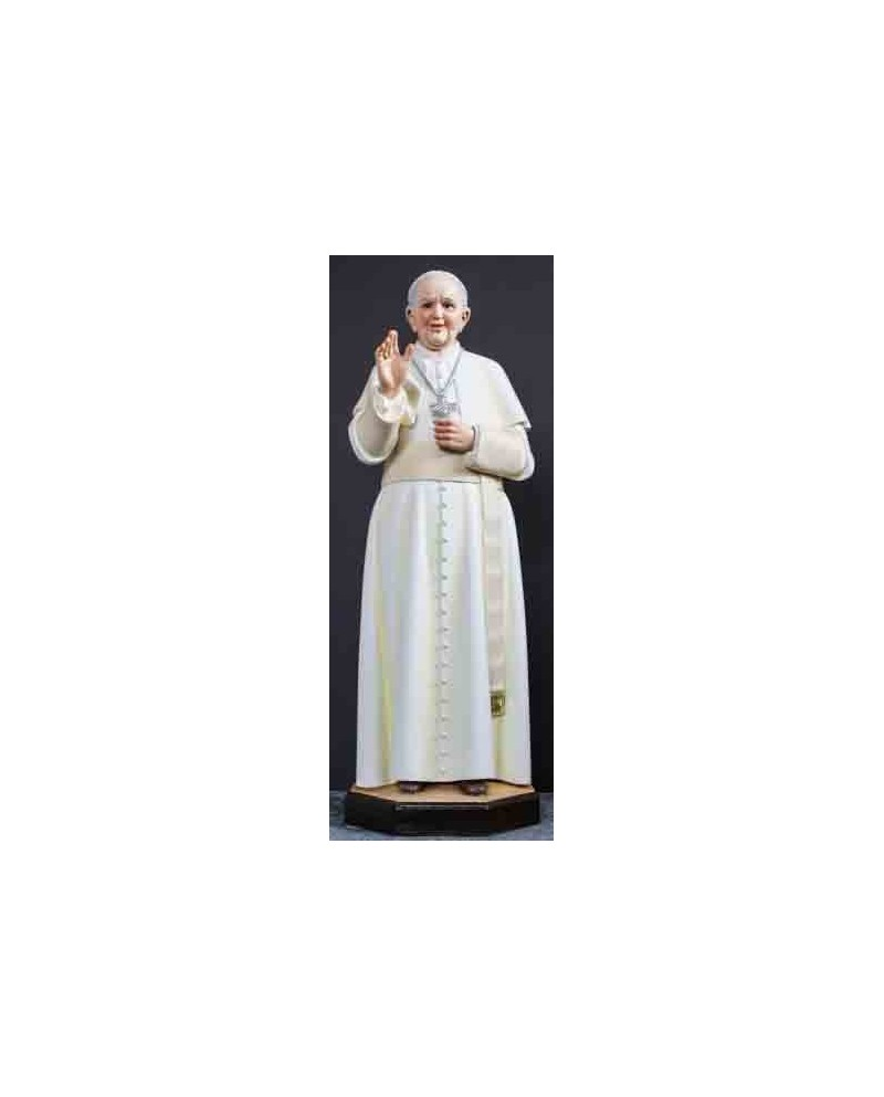 Wooden statue Pope Francisco