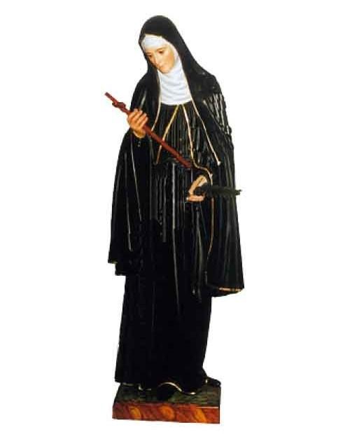 Statue en bois de Sainte Rita