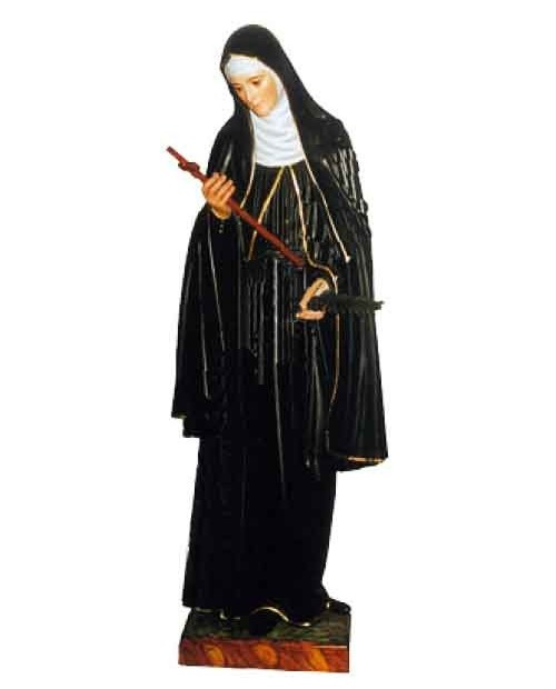 Wooden statue of St Rita