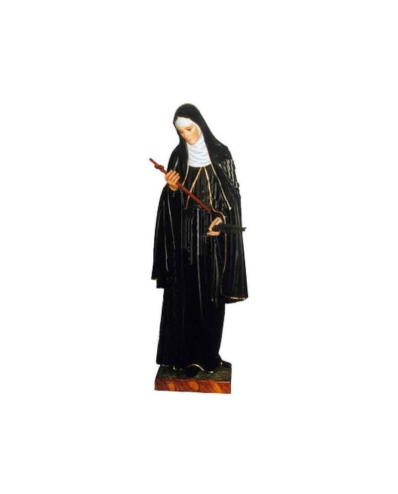 Wooden statue of St Rita