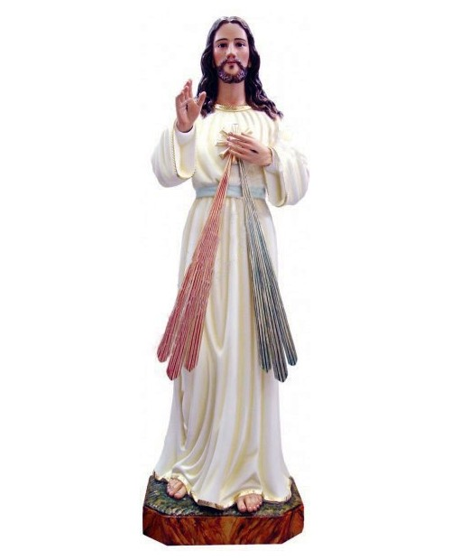 Wooden statue of Jesus Christ Merciful