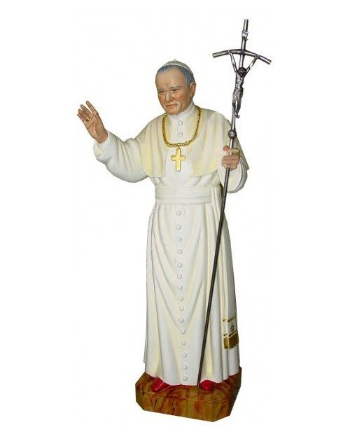 Wooden statue of John Paul II