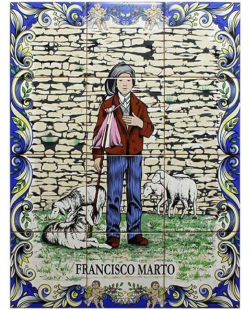 Carreaux avec l'image du Francisco Marto